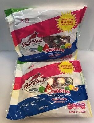 Red Bird Southern Refresh Mints Assorted Candy Puffs 2 8oz Bags 1 LB Total