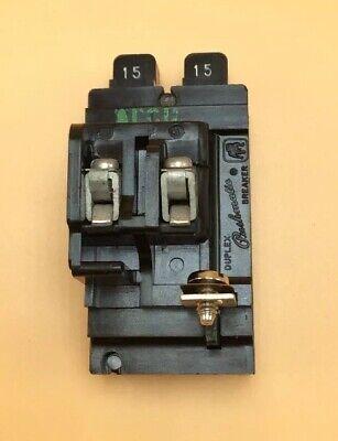 Circuit Breaker Pushmatic Gould P1515 1515 Amp Two 1 Pole Twin Duplex