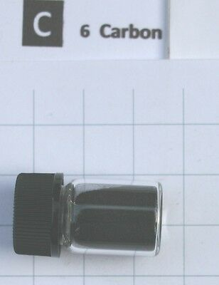 1 gram >99.5% C60 Carbon fullerene in glass vial - Pure element 6 sample
