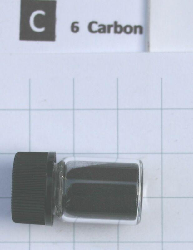 1 gram 99.71% C60 Carbon fullerene in glass vial - Pure element 6 sample