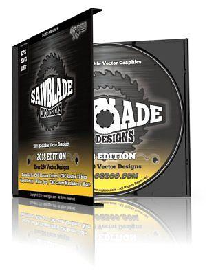 Cnc Sawblade Designs 250 Blade Style Vector Graphics 4 Cnc Plasma Router Cd
