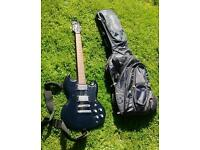 Gould electric guitar and Ritter carry bag