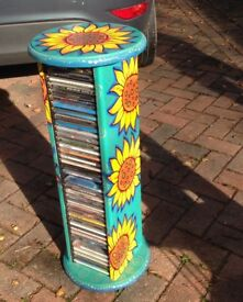 Unique on of a kind Handpainted CD stand rack