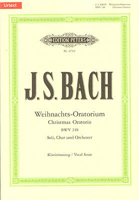 J.S. Bach Weihnachts-Oratorium BWV 248 Noten Klavierauszug Edition Peters 8719
