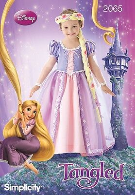 SIMPLICITY SEWING PATTERN 2065 GIRLS TANGLED RAPUNZEL COSTUME CHILD KIDS 3-8 (Plus Size Rapunzel Costume)