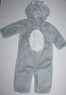 POTTERY BARN KIDS PLUSH HIPPO COSTUME 12-24 MO PBK Halloween Hippopotamus (Kids Hippo Costume)