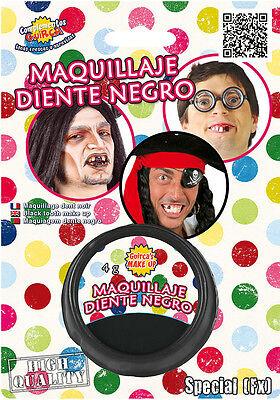 Halloween Schwarz Zähne Make-Up Fehlender Hundezahn Piraten Zombie Maskenkostüm ()
