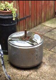 Washing machine drum.