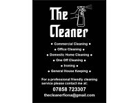 THE CLEANER professional friendly cleaning services, domestic, office, commercial, one off, ironing