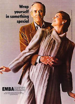 1979 Henry Fonda photo EMBA Blue-Gray Mink print ad