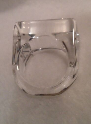 Lucite Clear Translucent Ring 5 & 1/2