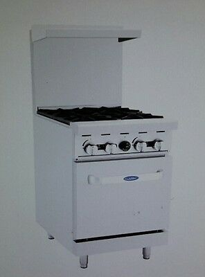 Atosa 24 Gas Range With 4burners And Standard Oven