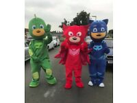 Mascot/Costume hire PJ MASKS Owlette, Gekko, Catboy/ Wissper/ Paw Patrol Tracker/ Batman