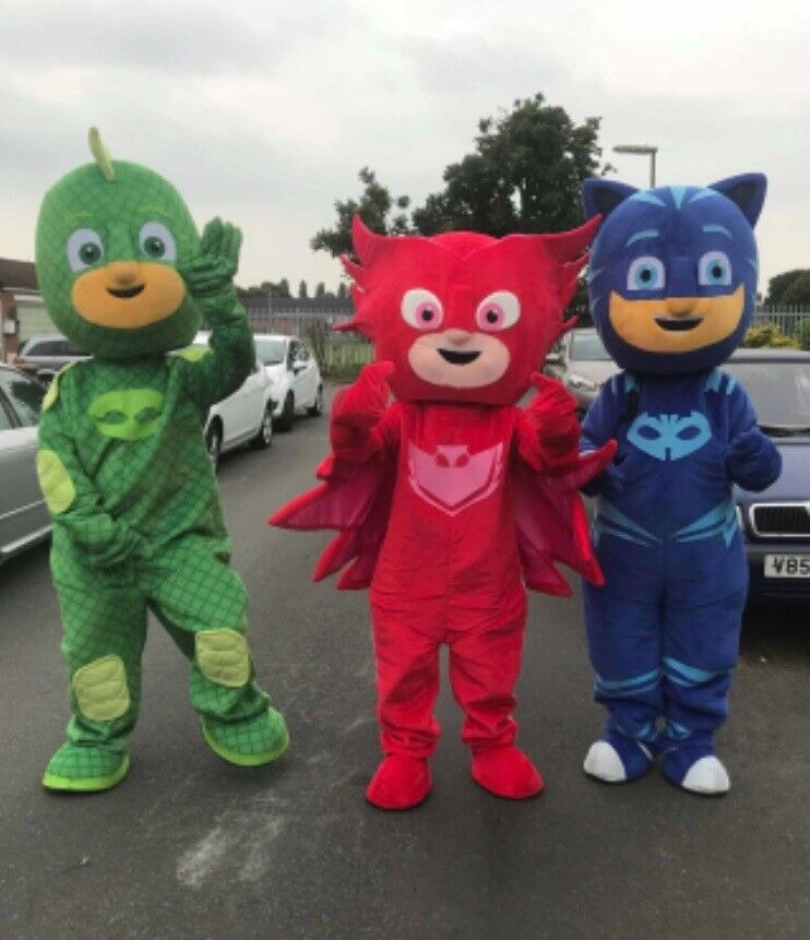 Pj Masks Mascot Costume Hire Gekko Catboy Owlette And More In