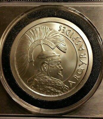 Roman warrior 1 oz .999 silver Argyraspides Silver Bullet Silver Shield SBSS - Roman Round Shield