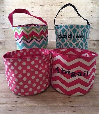 Personalized Everyday Easter Bag Bucket Basket Tote So Cute!!! (AH)