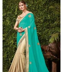 Turtoise wedding saree