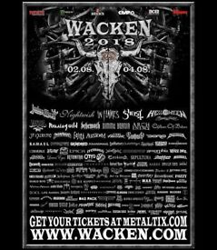 Wacken Open Air 2018 festival ticket