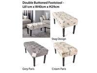 Cushion double stools - brand new