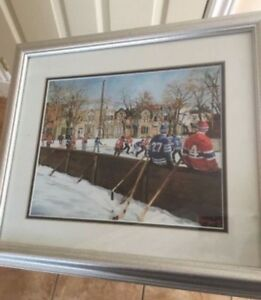 NHL hockey painting from Michel Lapenseé 1999