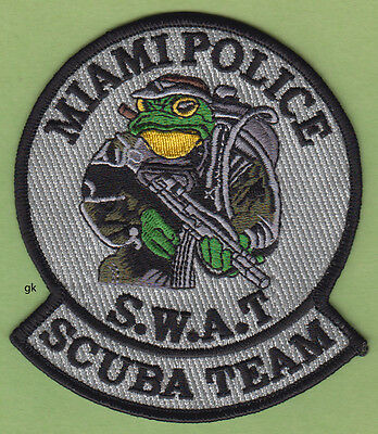MIAMI FLORIDA SWAT SCUBA DIVE TEAM SHOULDER PATCH  (Gray variation)