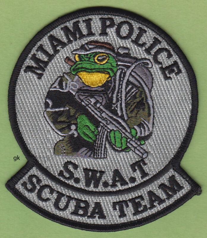 MIAMI FLORIDA SWAT SCUBA DIVE TEAM SHOULDER PATCH  (Gray variation)