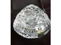 lead crystal trinket glass dish