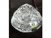 lead crystal small lidded dish