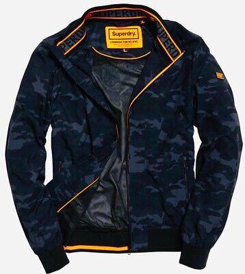 Superdry Dark Camo Black/Grey Men's Flyweight Harrington Jacket New w Tags Large