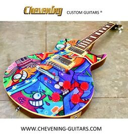 Custom Les Paul Guitar - Pez & Dibo Design