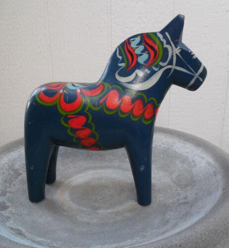 """VINTAGE DALA HORSE CARVED WOOD FOLK ART 12"""" SCULPTURE SWEDEN"""