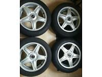 Mini alloy wheels 16 inch with tyres