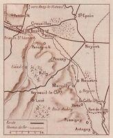 G1637 France - Pussigny - Pouzay - Carta Geografica D'epoca - 1934 Vintage Map -  - ebay.it