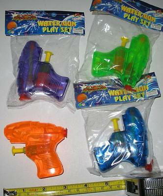 4 WATER SQUIRT GUNS 3 INCH pistol squirting toy gun