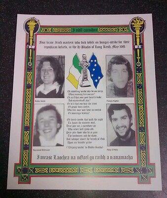 Irish Republican 1981 Long kesh Bobby Sands Hunger strikers memorial Sinn Fein