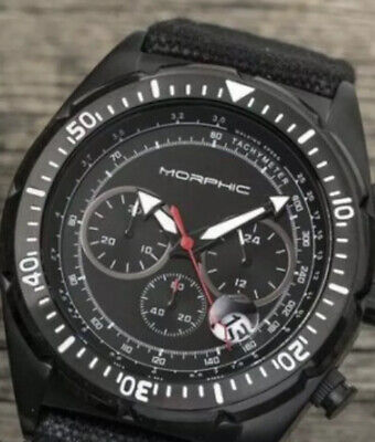 Black PVD Chronograph Men's Watch Morphic M53 Retail $799 Best Deal On