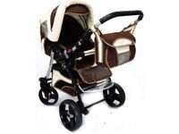 Prince pram deluxe 3 in 1 travel system