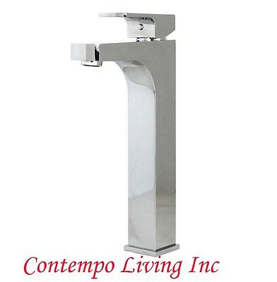 Contemporary Polished Chrome Finish Solid Brass Bathroom Faucet