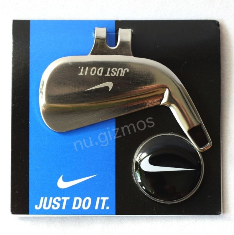 BRAND NEW NIKE MAGNETIC GOLF HAT CLIP and  BALL MARKER