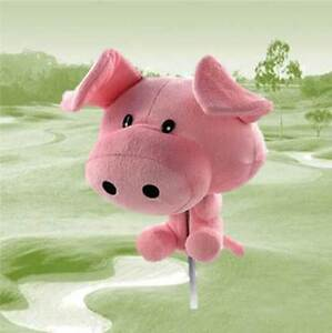 Club-Hugger-460cc-Driver-1-Wood-Golf-Club-Head-Cover-Animal-Novelty-PIG