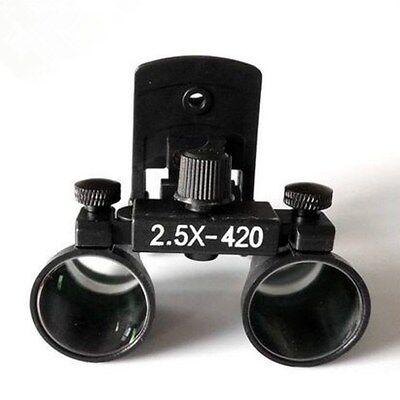 2.5x Clip Loupe Medical Surgical Binocular Dental Loupes Eyeglass Magnifier