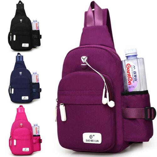 Men Women Nylon Crossbody Snub Chest Cycle Sling Bag Daily Travel Backpack