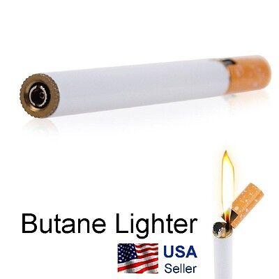 Cigarette Shaped Refillable Butane Gas Cigar Lighter Portable Novelty USA Ship
