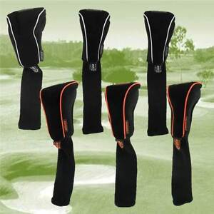 Pro-Tekt-Neoprene-Driver-Or-Fairway-Golf-Club-Headcovers-Orange-or-Black