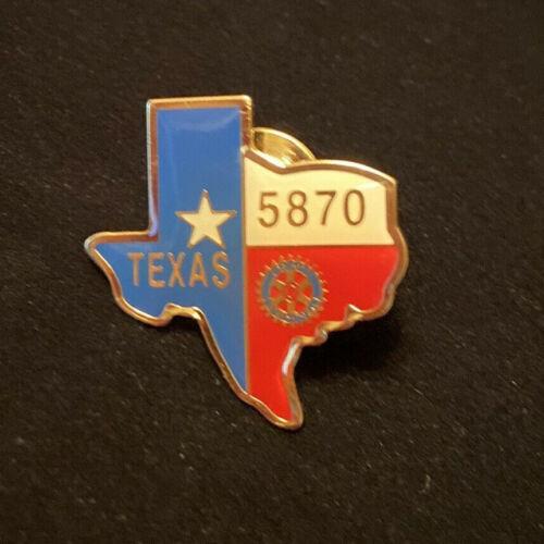 Rotary International Pin TEXAS 5870