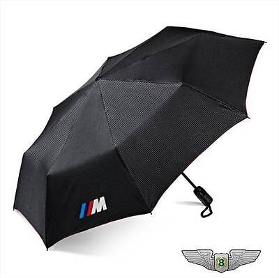 BMW New Genuine M Black Folding Umbrella with M Logo 80232410917