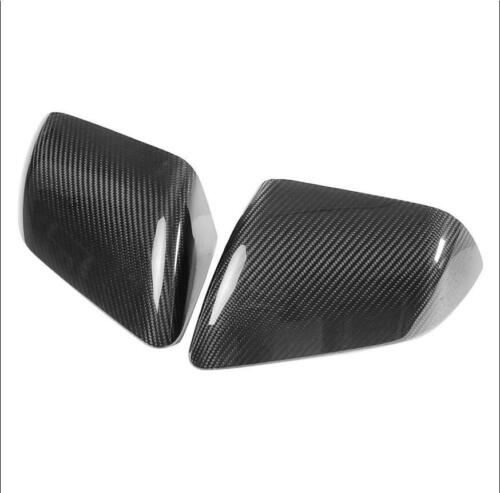 For 2015-2017 Ford Mustang Gloss Carbon Fiber Side Mirror Cover Overlay Trim