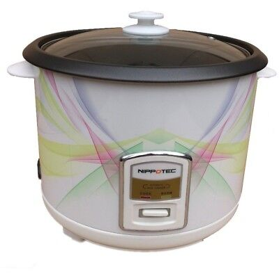 2.8L Non Stick Rice Cooker Steamer GlassLid 15 Cup Automatic Electric Pot Warmer