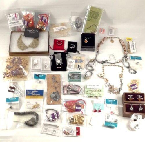 45pcs Wholesale Jewelry Lot 925 Sterling Earrings, Rings, Necklaces, Bracelets