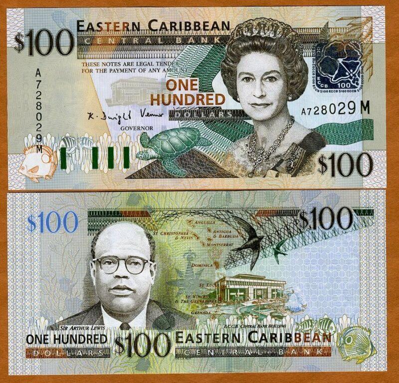 Eastern East Caribbean $100 (2003) Montserrat, P-46m, UNC